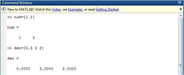 matlab command window