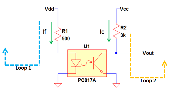 Optocoupler Operation as Switch