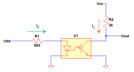optocoupler simple circuit structure