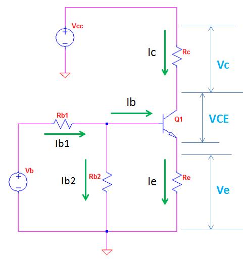 NPN Transistor Biasing Tool Model Circuit