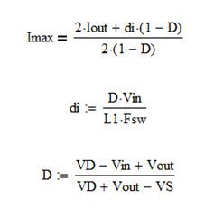 Boost converter duty cycle equation