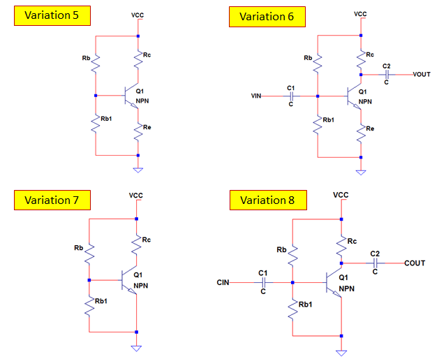 Common NPN transistor diagrams