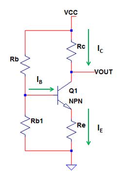 NPN transistor voltage divider bias