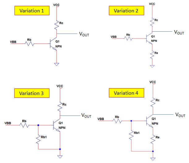 common emitter NPN transistor