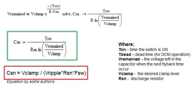 RCD Snubber Circuit Design