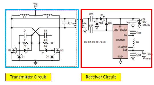 wireless charger design circuit
