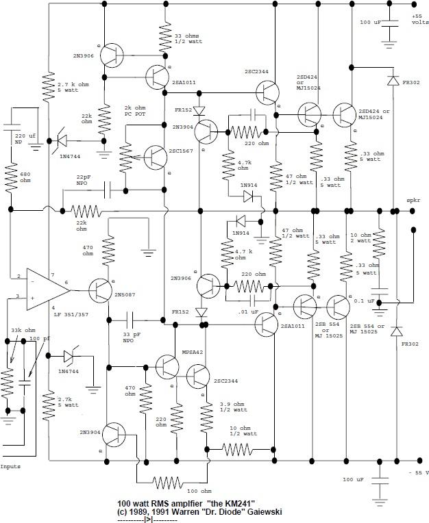 TDA8929T ClassD Audio Power Amplifier electronic circuit