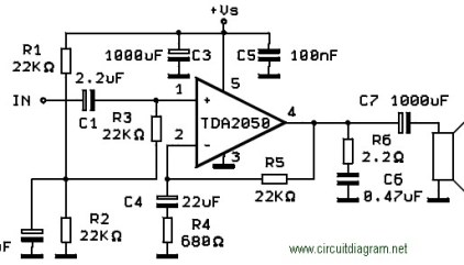 50W Power Amplifier with IC TDA7294   Electronic Schematic