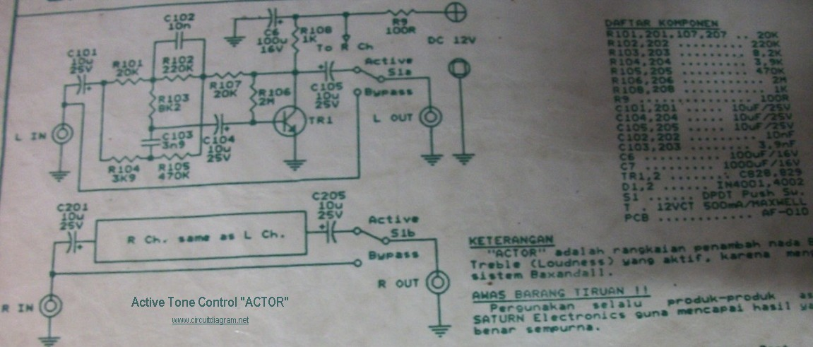 Bass Tone Control Circuit Diagram Nonstopfree Electronic Circuits
