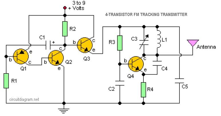 3w Fm Transmitter Electronic Circuit Diagram