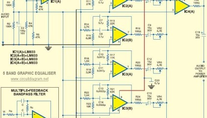 2 x 10 Band Stereo Graphic Equaliser | Electronic Schematic ...  Band Equalizer Circuit Diagram on