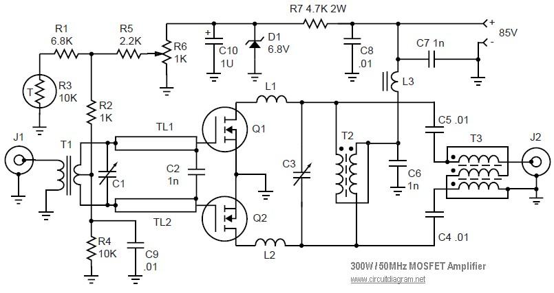 50MHz 300W MOSFET Linear Amplifier