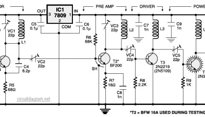 Active FM Booster | Electronic Schematic Diagram