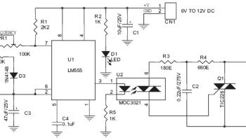 220v / 200w lamp flasher