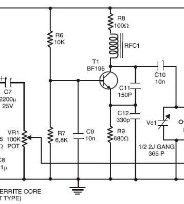 UHF TV Antenna Booster | Electronic Schematic Diagram