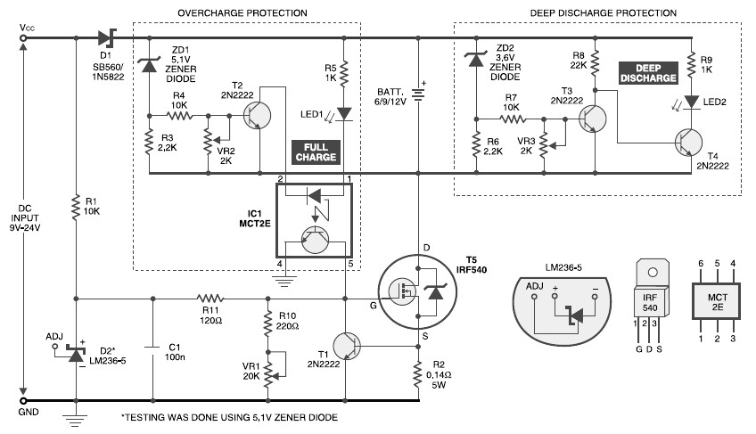 lithium battery charger electronic schematic diagram6v 9v 12v battery charger with constant current charging