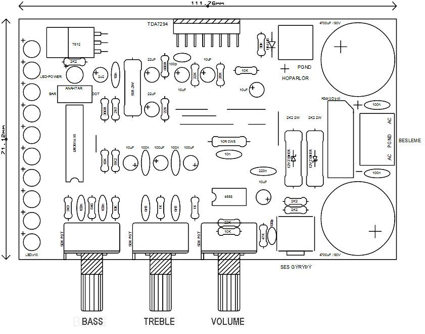2w mono audio amplifier electronic schematic diagram