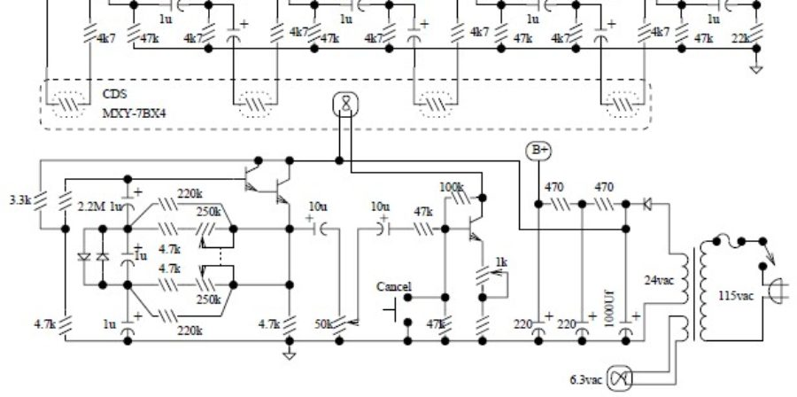 Univibe Pedal Circuit Design