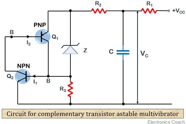What Is An Astable Multivibrator Definition Circuit