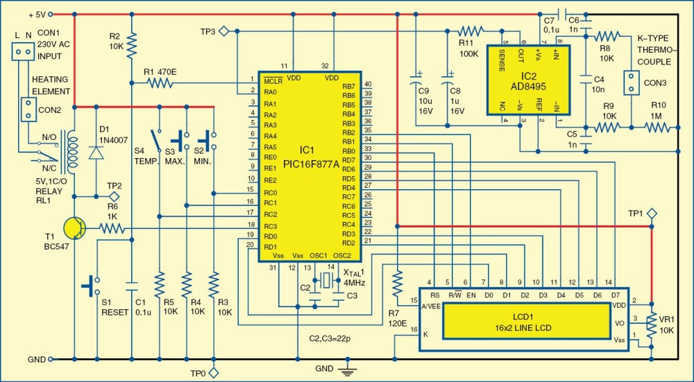 medium resolution of digital temperature controller circuit