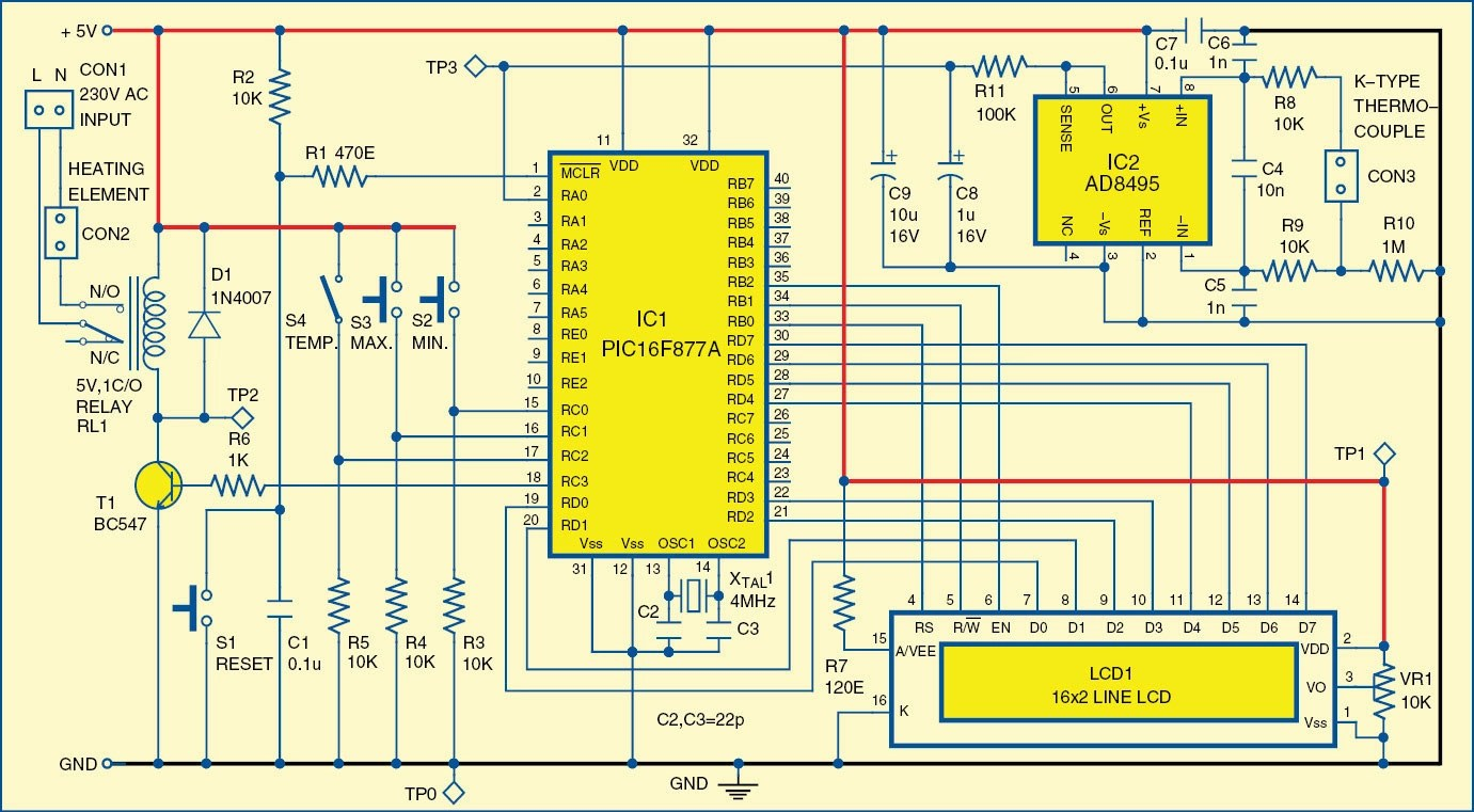 hight resolution of digital temperature controller circuit