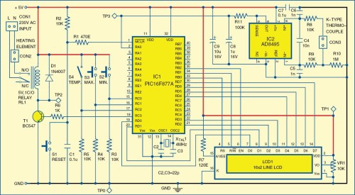 small resolution of digital temperature controller circuit