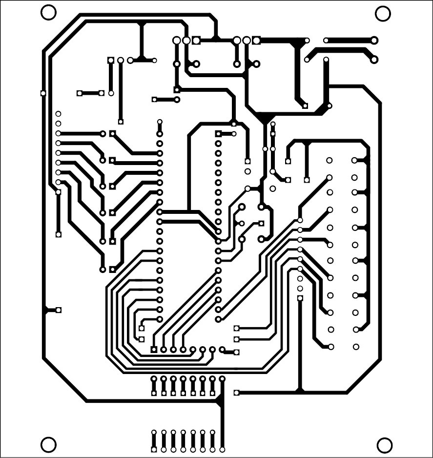 medium resolution of 4 actual size pcb layout for the quiz controller