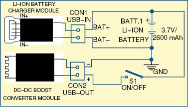 wiring diagram for motion sensor exit ramp traffic power bank smartphones | circuit with full explanation