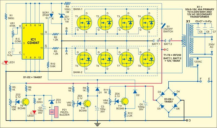 dld mini projects circuit diagram cub cadet lt1045 deck sine wave inverter with full explanation