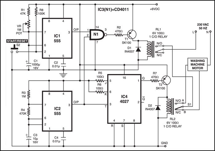 Videocon Semi Automatic Washing Machine Wiring Diagram