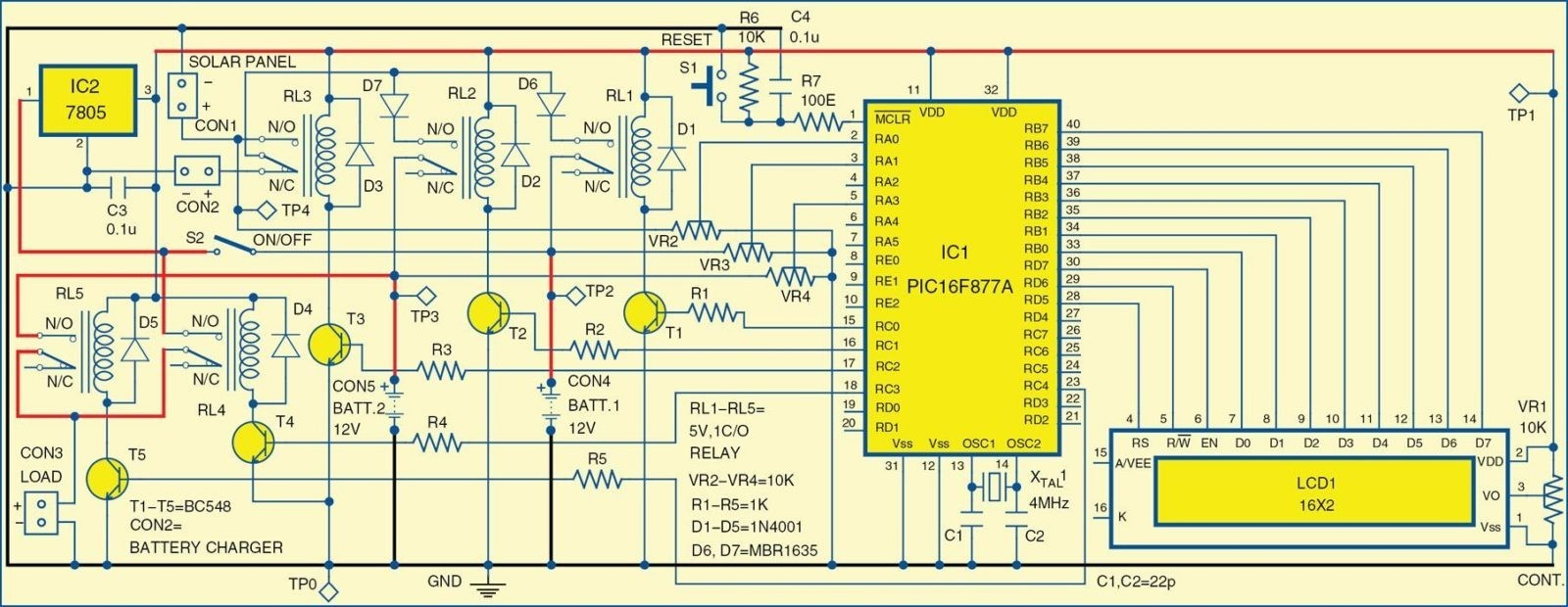 hight resolution of 1 circuit diagram of the solar powered home lighting system