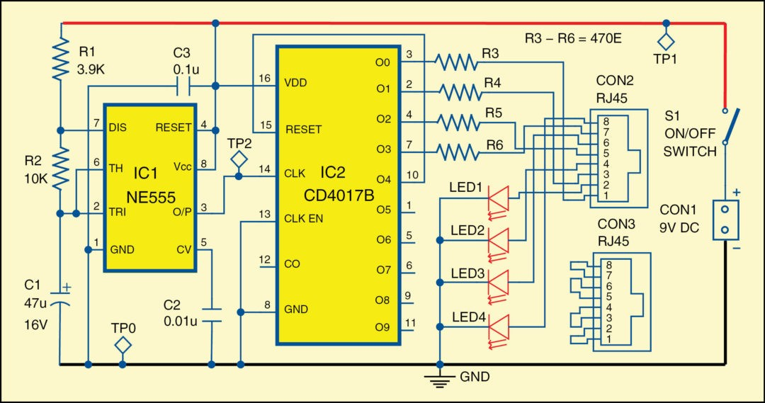 rj45 crossover wiring diagram hart cable tester | detailed circuit available