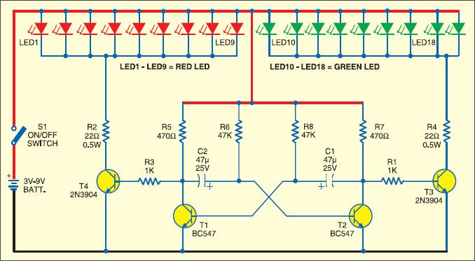 how to make a parallel circuit with led lights