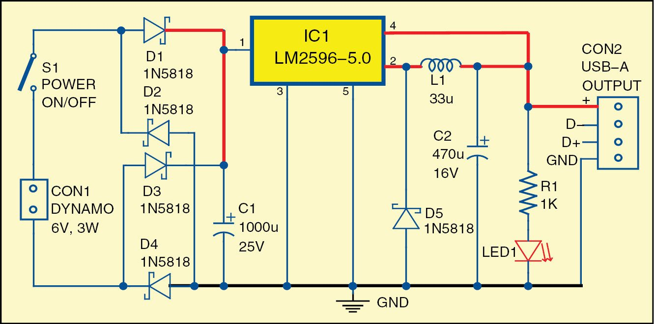 hight resolution of 1 circuit diagram of the bicycle usb charger