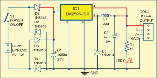 small resolution of 1 circuit diagram of the bicycle usb charger