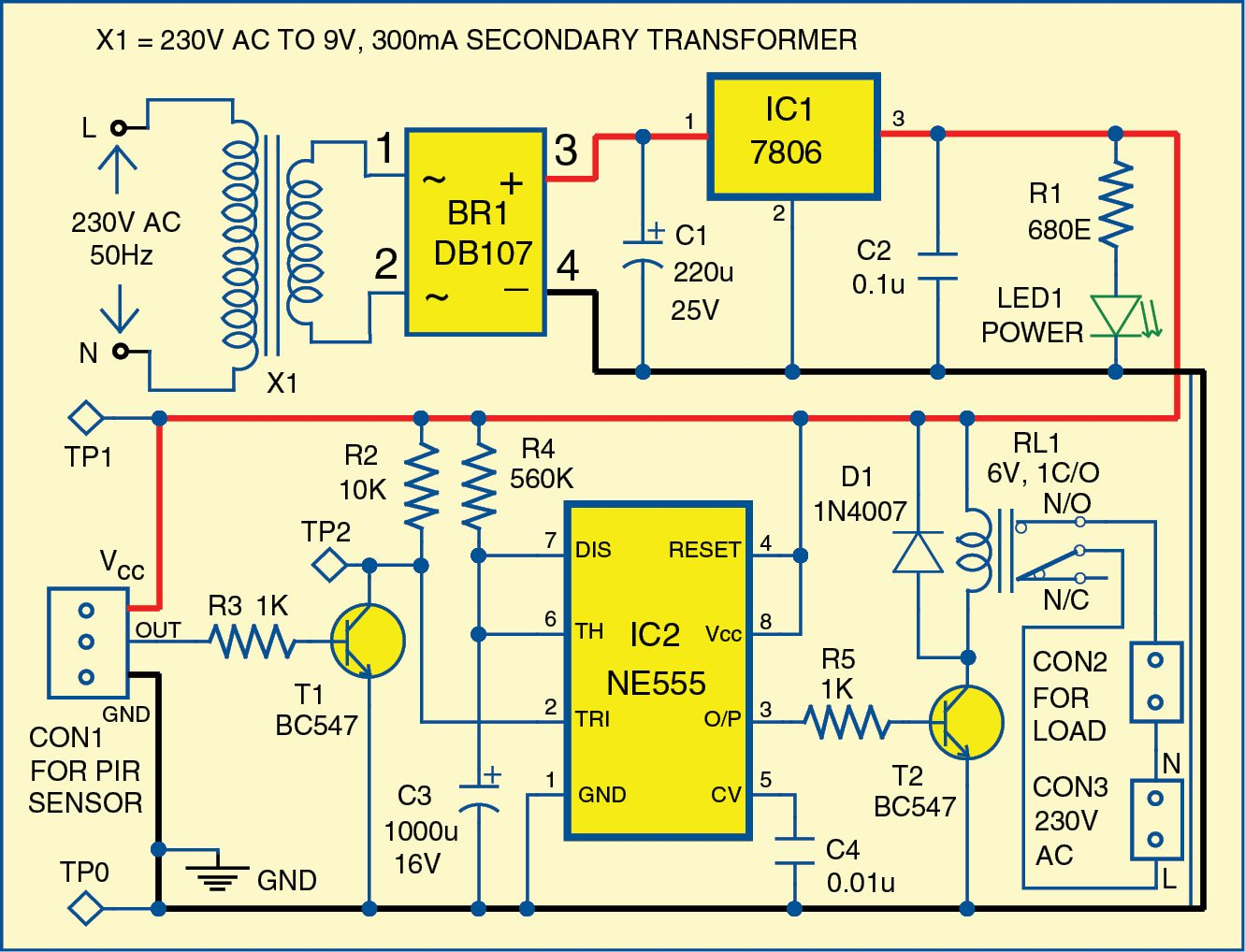 hight resolution of 1 circuit diagram of the motion detector
