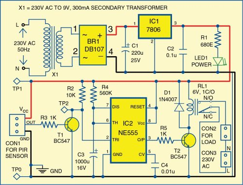 small resolution of 1 circuit diagram of the motion detector