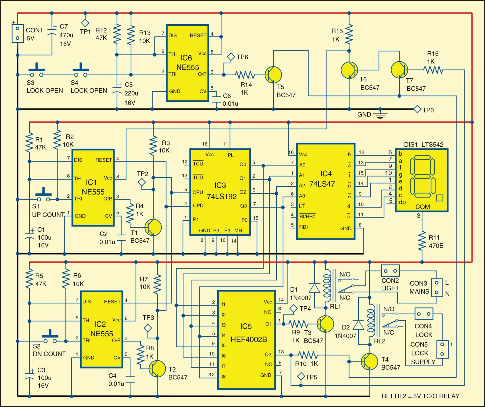 hight resolution of 1 circuit diagram of the automatic lock and lights circuit 4e6 fig 2