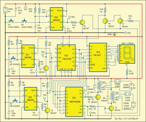 small resolution of 1 circuit diagram of the automatic lock and lights circuit 4e6 fig 2