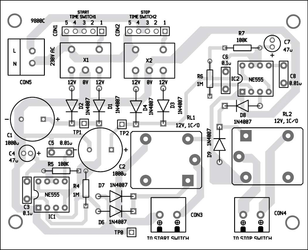 hight resolution of 7 component layout of the pcb