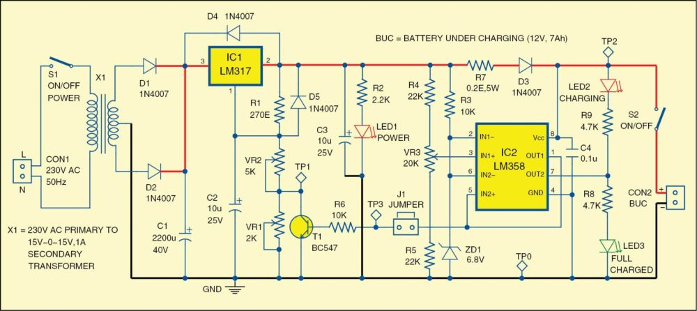 medium resolution of 12v battery charger circuit 12v battery charger
