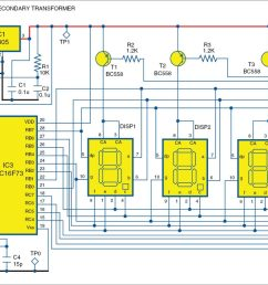 1 pic projects circuit of the alarm clock cum temperature indicator [ 2037 x 1150 Pixel ]