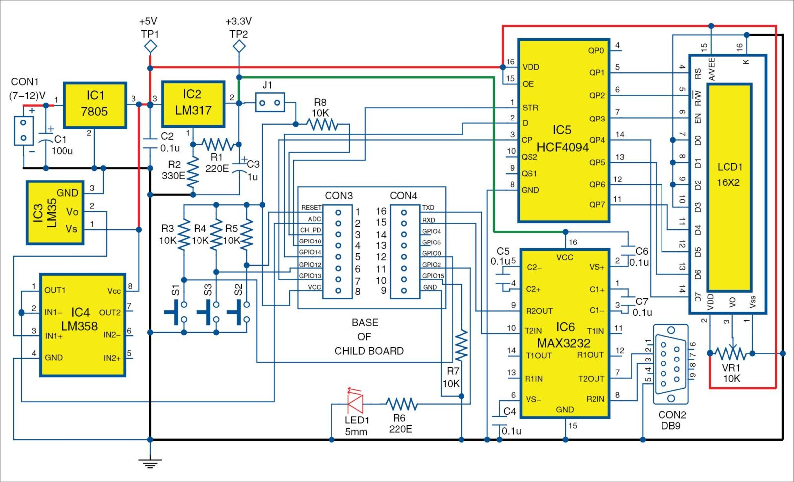 hight resolution of 3 circuit diagram of the main board of the low cost esp8266 based