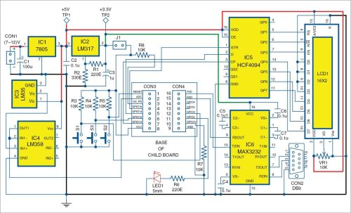 small resolution of 3 circuit diagram of the main board of the low cost esp8266 based