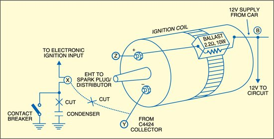 electronic ignition for old cars  detailed circuit diagram