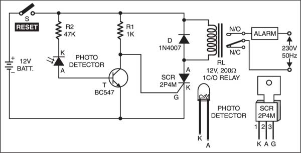 Foolproof Laser Security Alarm Circuit Electronic Circuit Projects