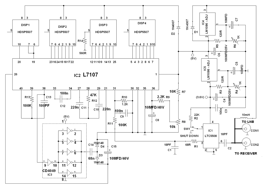 hight resolution of digital satellite finder full circuit diagram with explanation