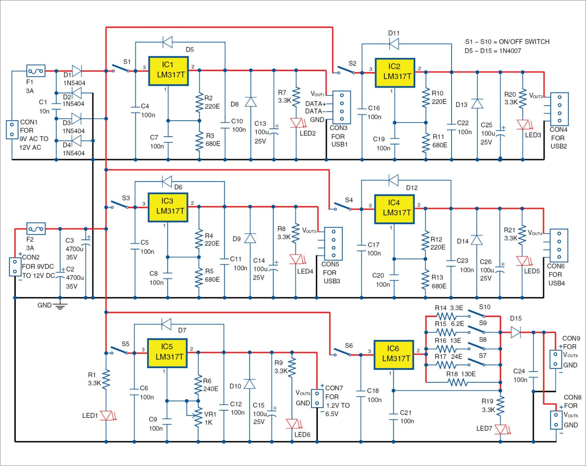 hight resolution of circuit diagram of the power supply hub