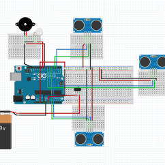 Ultrasonic Movement Detector Circuit Diagram 98 Ford Ranger Ignition Wiring Smart Stick Using Arduino Uno Full Project With Source Code