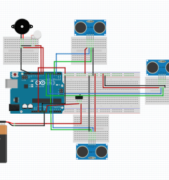 smart stick using arduino circuit diagram [ 1061 x 811 Pixel ]